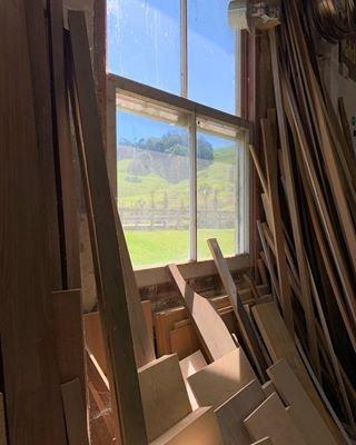 A visit to the workshop where crafted sawdust is made. . . . @davidwhitefurniture #fletcherdesign #davidwhitefurniture #jamiemclellan #twigcoatstand