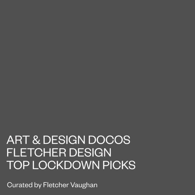 Once the lockdown workday has finished, check these out. A selection of Art, Design & Architectural documentaries curated by yours truly👌🏽 - Available to view on DocPlay. Link in bio. - #fletcherdesign #art #design #architecture